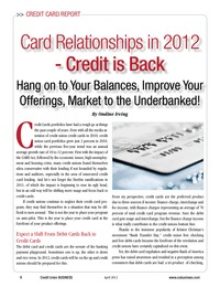 online magazine - Credit Card Report