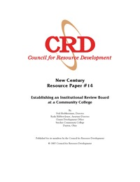 online magazine - Establishing an Institutional Review Board at a Community College