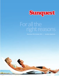 online magazine - Sunquest Vacations Winter 2012-13 Vacation Brochure