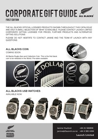 online magazine - All Blacks Products Catalogue