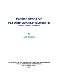 online magazine - Plasma Spray of Flyash+quartz+illmenite