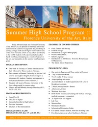 online magazine - High School Summer 2013 Study Abroad Program