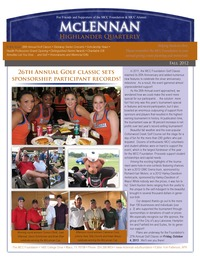 online magazine - MCC Highlander Quarterly Newsletter Fall 2012