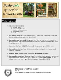 online magazine - Stanford Info - The Grapevine (15 November 2012)