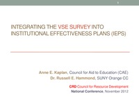online magazine - Integrating the VSE Survey
