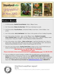 online magazine - Stanford Info - The Grapevine (29 November 2012)