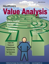 online magazine - Healthcare Value Analysis Magazine - Winter 2013 Edition