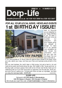 online magazine - Dorp-Life Issue 24 -14 March 2013