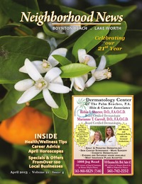 online magazine - Neighborhood News- Lake Worth/Boynton Beach April 2013