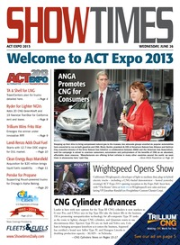 online magazine - ShowTimes Clean Fuels & Vehicles - June 26, 2013