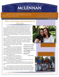 online magazine - Summer 2013 MCC Foundation Highlander Quarterly Newsletter