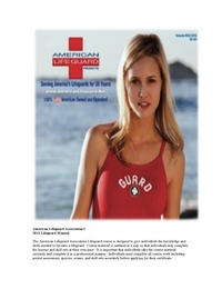 online magazine - American Lifeguard Manual