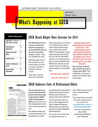 online magazine - What's Happening at SECA - Volume 8: Issue 5