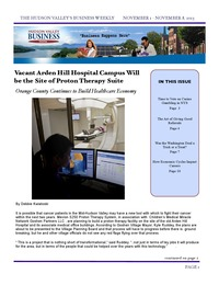 online magazine - Hudson Valley Business Digital, November 1 - 8, 2013