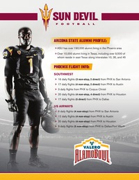 online magazine - 2013 Sun Devil Football Alamo Bowl Package