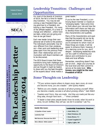 online magazine - Leadership Letter Vol. 8 Issue 1