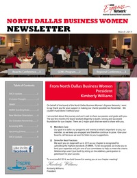 online magazine - North Dallas Business Women Newsletter - March 2014