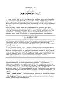 online magazine - DESTROY THE WALL - part 1