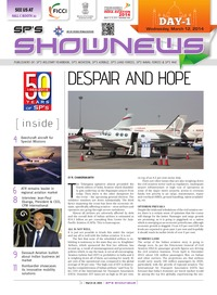 online magazine - SP's ShowNews to India Aviation 2014 - Day 1