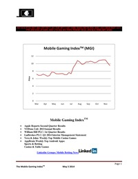 online magazine - Mobile Gaming Index: May 5, 2014