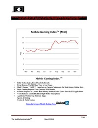 online magazine - Mobile Gaming Index: May 12, (BYI, BPTY, BYD, CIE, GAMZ)