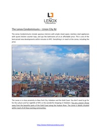 online magazine - The Lenox Condominiums – Union City NJ