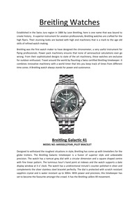 online magazine - Breitling Watches