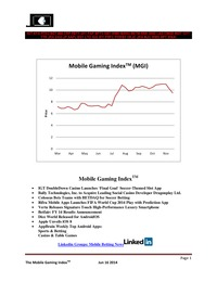 online magazine - Mobile Gaming Index-Jun 16 (IGT, BYI, BSYB, AAPL, BET)