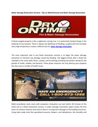 online magazine - Water Damage Restoration Services