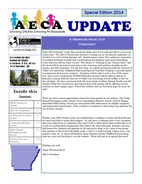 online magazine - AECA Update Special Election Edition 2014