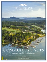 online magazine - The Reserve at Lake Keowee Community Facts