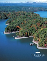 online magazine - The Reserve at Lake Keowee Brochure