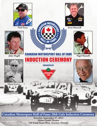 online magazine - Canadian Motorsports Hall of Fame Induction Gala Program (2014)