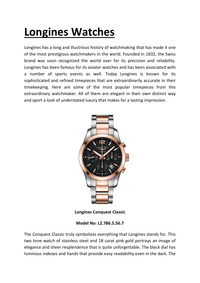online magazine - Longines Watches