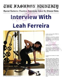 online magazine - THE FASHION IDENTITY Interview With Leah Ferreira By Pitanjal