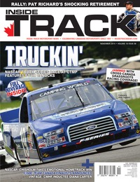 online magazine - Inside Track Motorsport News • Vol. 18, Iss. 8 • November 2014