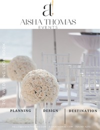online magazine - Aisha Thomas Events 2017 Wedding Look Book
