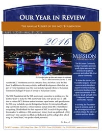 online magazine - 2016 MCC Foundation Annual Report
