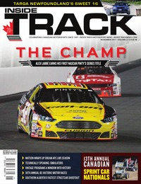 online magazine - Inside Track Motorsport News • Vol. 21, Iss. 08 • Nov. 2017