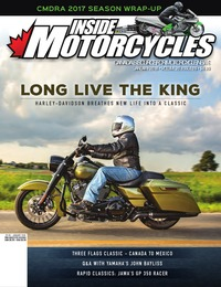 online magazine - Inside Motorcycles • Vol. 20, Iss. 09 • Jan. 2018