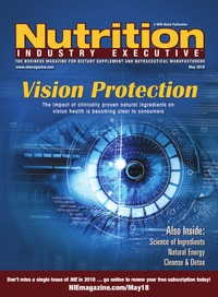 online magazine - Nutrition Industry Executive May 2018