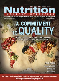 online magazine - Nutrition Industry Executive July/August 2018