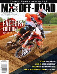 online magazine - MX and Off-Road • Vol. 17, Iss. 02 • Summer 2018 COMP