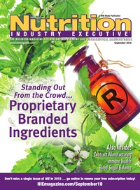 online magazine - Nutrition Industry Executive September 2018