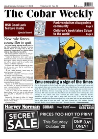 online magazine - The Cobar Weekly Oct 17, 2018