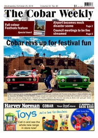 online magazine - The Cobar Weekly October 24, 2018