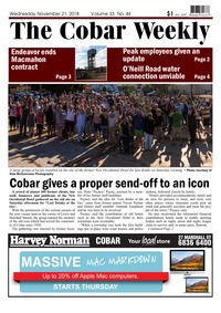 online magazine - The Cobar Weekly Nov 21, 2018