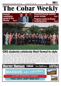 online magazine - The Cobar Weekly, November 28, 2018