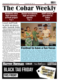 online magazine - The Cobar Weekly March 13, 2019