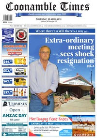 online magazine - Coonamble Times, 25 April 2019